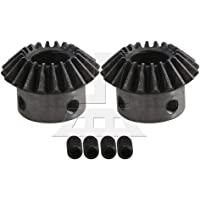 1.2cm Hole Dia 16T 1.5 Module 45# Steel Bevel Gear Set of 2 Silver Black