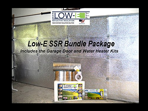 GIFT Special 2 items for 1 Price w/ free Party Pack Included ESP Low-E® SSR 2 Car Foil Garage Door Kit and Water Heater Insulation Blanket Kit Act Now For Holidays and You'll Get The Low-E Party Pack (2 Can - Kit Overhead