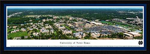 Notre Dame - Campus Aerial - Single Mat, Select Framed Print by Blakeway Panoramas