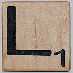 Large Scrabble Letter Tile (4 x 4, L)