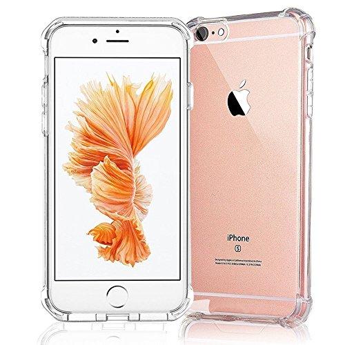 iPhone 7 Case,iPhone 8 Case ,AUSCREZICON Transparent Clear,Shock-absorption Bumper Case Enhanced corners protective case for iPhone 7 iPhone 8  t iphone 7 case | Don't Wait For An iPhone 7 Plus Battery Case 51w7LhlEk4L