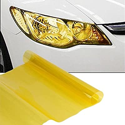 yellow JZK/® 30x100cm car motorcycle truck headlight rear light tail light fog light tint vinyl lights color changing decal sticker film cover