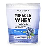 Dr. Mercola Miracle Whey Concentrate Protein Powder – Blueberry Flavor – Lean Muscle Growth, Immune Support – Colostrum, Sunflower Lecithin, MCT, Beta Glucan, Amino Acids: Cysteine, Glycine, Glutamate