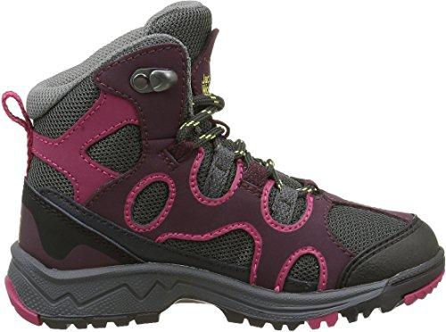 Jack Wolfskin Crosswind Texapore Mid K, Zapatos de High Rise Senderismo Unisex Niños Rojo (Dark Berry 2009)