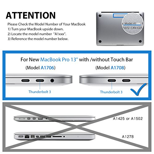 LENTION-Clear-Screen-Protector-for-MacBook-Pro-13-inch-2016-2017-24-Thunderbolt-3-Ports-with-or-wout-Touch-Bar-A1706-A1708-HD-Protective-Film-with-Hydrophobic-Oleophobic-Coating