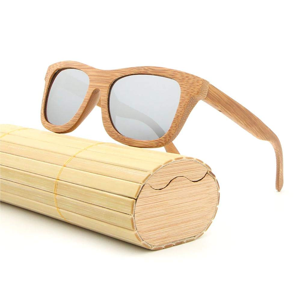 Sunsetglow Bamboo Glasses Coated Bamboo Polarized Sunglasses Wooden Vintage Sunglasses with Bamboo Box