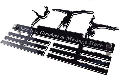 PINK Personalised Gymnastics Acrylic Medal Holder hanger Display