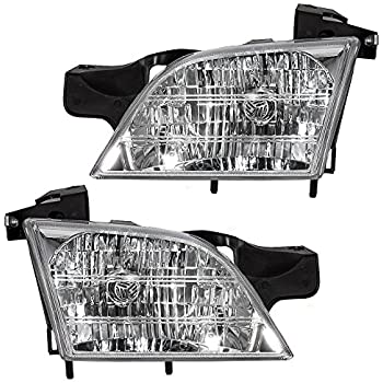 Driver and Passenger Headlights Headlamps Replacement for Chevrolet Oldsmobile Pontiac Van 10368389 10368388