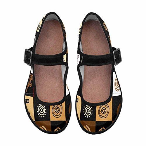 Multi Jane Shoes Walking Comfort Womens InterestPrint 2 Mary Casual Flats a8pOwqP