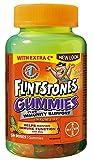 FLINTSTONES Gummies Plus Immunity Support Multivitamin for Kids, With Extra Vitamin C and Added Zinc, 50 Gummies