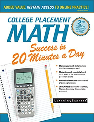 Amazon college placement math success in 20 minutes a day ebook college placement math success in 20 minutes a day 2nd edition kindle edition fandeluxe Gallery