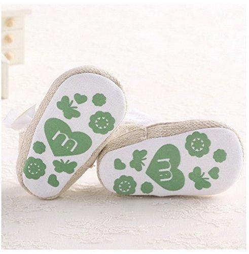 Summer Infant Girls infantil Princess primera Walkers Prewalker zapatos arco zapatos sandalias morado morado Talla:0-6 meses blanco