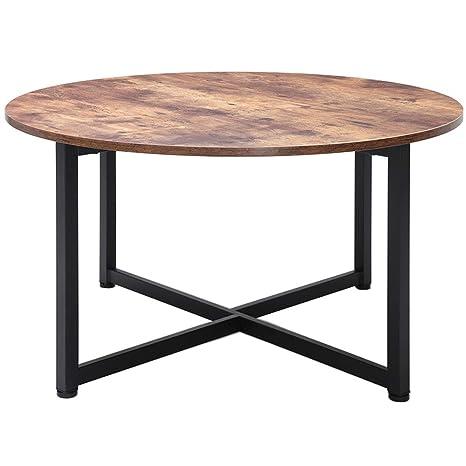 Amazon.com: Mesa de centro redonda Usikey para sala de estar ...