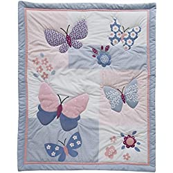 Bedtime Originals Butterfly Meadow Girl's 3 Piece Bedding Set