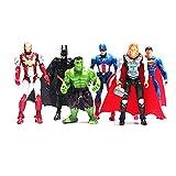 Avengers Figures Set Poseable Action Marvel - 6 Pcs
