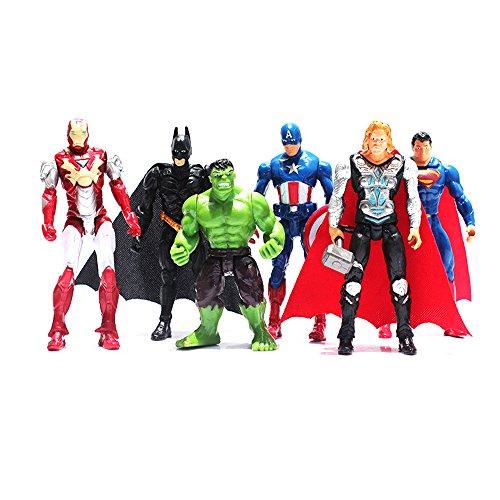 Avengers Toys Poseable Action Figure Set - 6 (Poseable Figure Set)