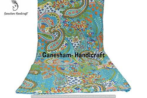 copriletto indiano hippie gypsy floreale Home Decor indiano coperta coperta Bohemian copriletto indiano vintage kantha Quilt copriletto Bohemian kantha Bedding Handmade Quilt kantha Bedding