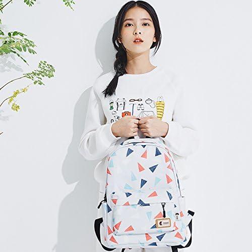 KEROUSIDEN Printed Backpack Simple College Wind Travel Backpack Canvas Bag Handbags Large Bag Student Bag 301639Cm