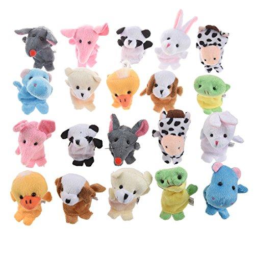 SODIAL(R) Marionnettes Animal aux doigts Marionnettes pour enfants (2 * 10) (20 pieces)