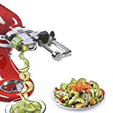 Multifunctional Spiral Slicer Plus Attachment with Peel, Core and Slice, For All Kitchen Stand Mixer Includes Peel, Core and Slice Stand Mixer Attachment