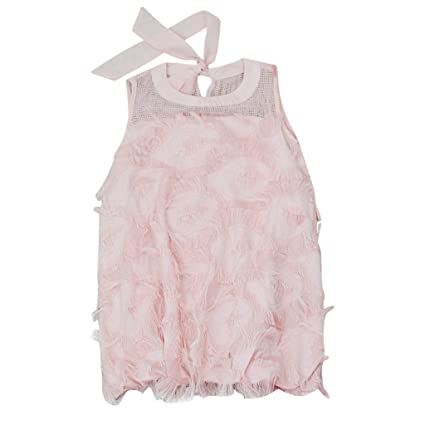 cebdaabdeaedb Amazon.com: ❤ Mealeaf ❤ Toddler Baby Girl Kid Lace Solid Princess Lace  Tulle Party Dress Outfits Clothes(2-8 Years ): Home & Kitchen