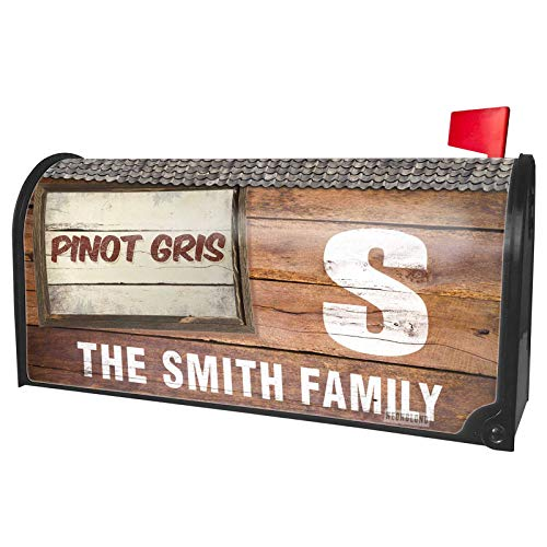 (NEONBLOND Custom Mailbox Cover Pinot Gris Wine, Vintage Style)