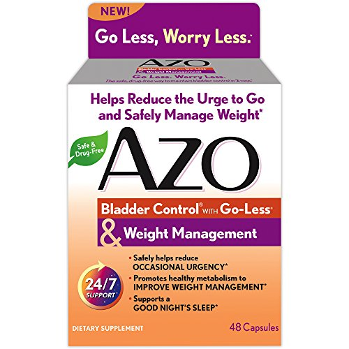 AZO Bladder Control with Go-Less® & Weight Management Dietary Supplement |  Safely Helps Reduce Occasional Urgency* | Promotes Healthy Metabolism* | Supports a Good Night's Sleep* | 48 Capsules from AZO