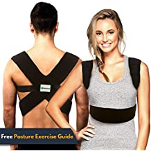 Back-Up Posture Corrector Support Brace for Women & Men | Shoulder & Clavicle Support | Thoracic Kyphosis | Lower & Upper Back Pain Relief | Cervical & Lumbar Support - Fully Adjustable
