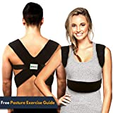 Back-up | Comfortable & Effective Posture Corrector for Women & Men | Clavicle & Shoulder Brace | Back Support | Lower & Upper Back Pain Relief | Cervical & Lumbar Support - Fully Adjustable