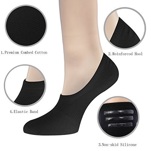 6 Pairs No Show Socks Women Invisible Liner Socks Womens Thin Low Cut Casual Non Slip Ankle Socks
