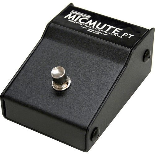 Whirlwind MICMUTE-PT Push to Talk Microphone/Line Switcher - Footswitch Model