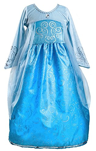 Blue Ice Princess Costume (Little Adventures Ice Princess Dress Up Costume for Girls - Small (1-3 Yrs))