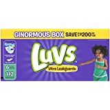 Luvs Ultra Leakguards Disposable Diapers Size 6, 112 Count, ONE MONTH SUPPLY