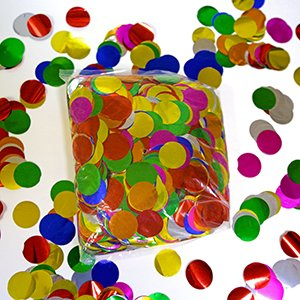 1'' Multicolor Metallic Circles for Arts and Crafts Confetti Poppers 1 Pound Bag by Ultimate Confetti (Image #2)
