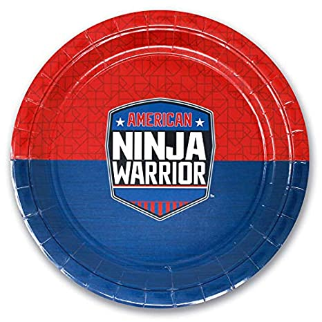 Amazon.com: American Ninja Warrior - Plato de papel (10 ...