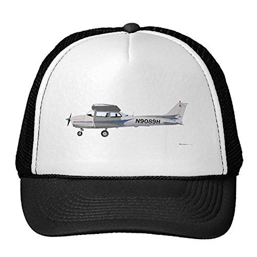 Unisex Black Cessna 172 Skyhawk Blue Trucker Classic Baseball Hat Unique Trucker Cap