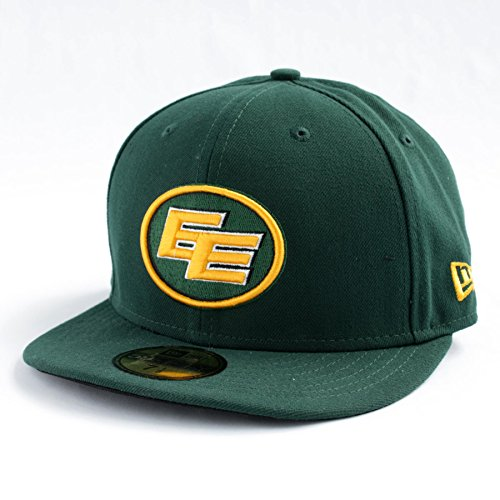 Edmonton Eskimos CFL 59FIFTY Basic Logo Fitted Cap - 7-1/8 (Basic Logo Fitted Hat)