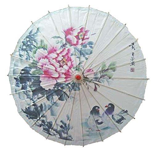 Handmade Chinese/Japanese Style Vintage Paper Umbrella Parasol 33-Inch Mandarin Duck - Chinese Mandarin Duck