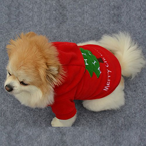 Image of OLLYPET Puppy Christmas Clothes Hoodie for Dogs Teacup Pet Costume Sweater Clothing Girl Boy Chihuahua Yorkie Winter Xsmall