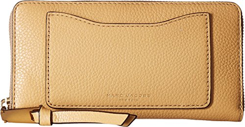 Marc Jacobs Women's Recruit Standard Continental Wallet Golden Beige Wallets by Marc Jacobs