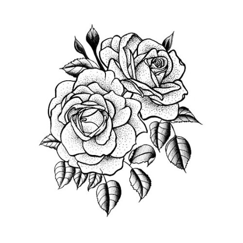Amazon tattify traditional flower temporary tattoo twin rose amazon tattify traditional flower temporary tattoo twin rose set of 2 other styles available and fashionable temporary tattoos beauty mightylinksfo