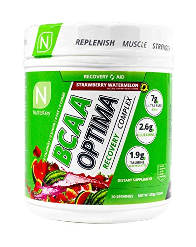 NutraKey BCAA Optima Post Workout Product, Strawberry Watermelon, 15.55-Ounce
