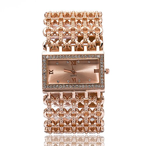 Gold Square Wrist Watch - 1