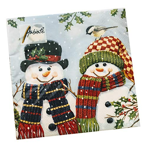 20-ct Snowman Couple Christmas Napkins | Christmas