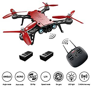 HIOTECH MJX Bugs 8 Pro Drone FPV RC Drone Kit 720P 5.8G Camera Video 2.4G 6-Axis Gyro Brushless Motor, Bonus Battery, Quadcopter Toy for Kids, Beginners, Adults Angle/Acro, 3DFlips, Alarm, Screen