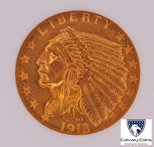1913 P $2.5 Indian Head Gold (Pre-1933) MS 62 NGC