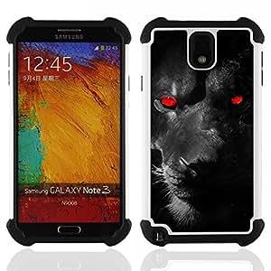 King Case - puma panther red demon monster feline eyes - Cubierta de la caja protectora completa h???¡¯???€????€?????brido Body Armor Protecci&At