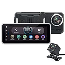 junsun 7-Inch Car Android 4.4 GPS Navigation Bluetooth Rear view Camera,Dual Cam Simultaneously Recording