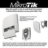 Mikrotik wsAP ac lite Wireless Access Point In-Wall Dual Concurrent 2.4GHz/5GHz (RBwsAP-5Hac2nD-US)