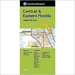 Rand Mcnally Map Of Florida.Rand Mcnally Folded Map Central Eastern Florida Regional Map